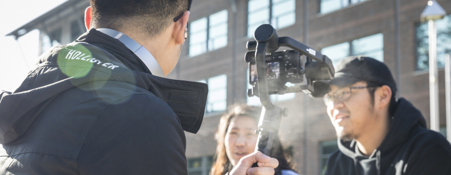 Students filming