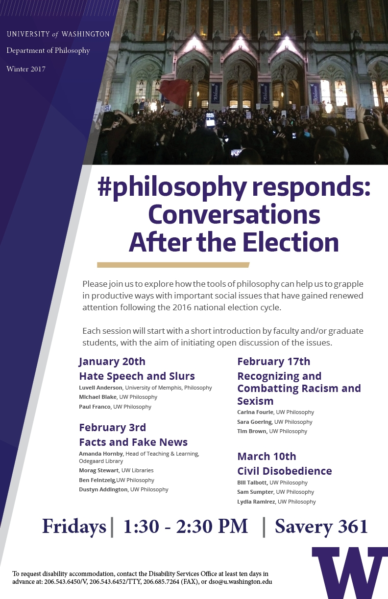 #philosophyresponds : Conversations After the Election