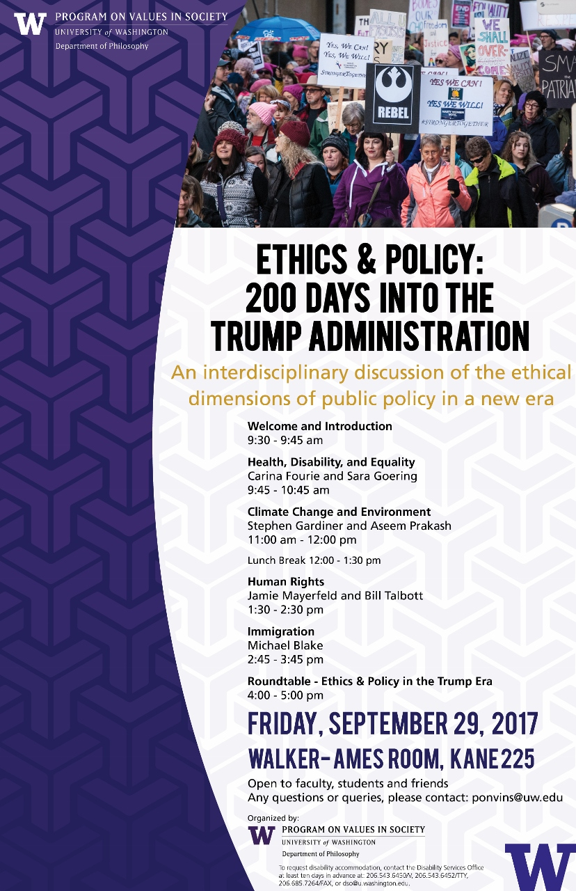 Ethics & Policy: 200 Days into the Trump Administration Workshop