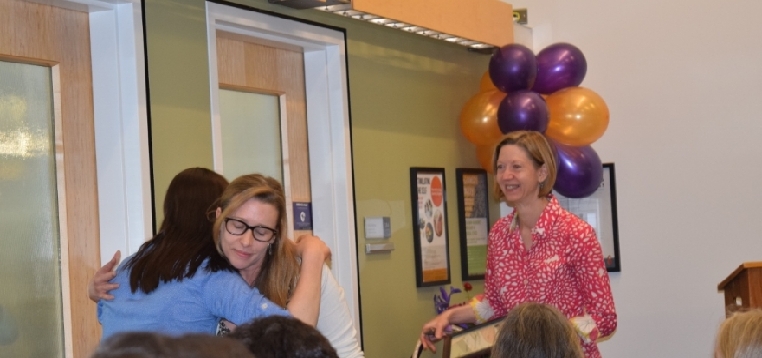 Outstanding Undergraduate Scholar Award - Hannah Martens with Prof. Carina Fourie