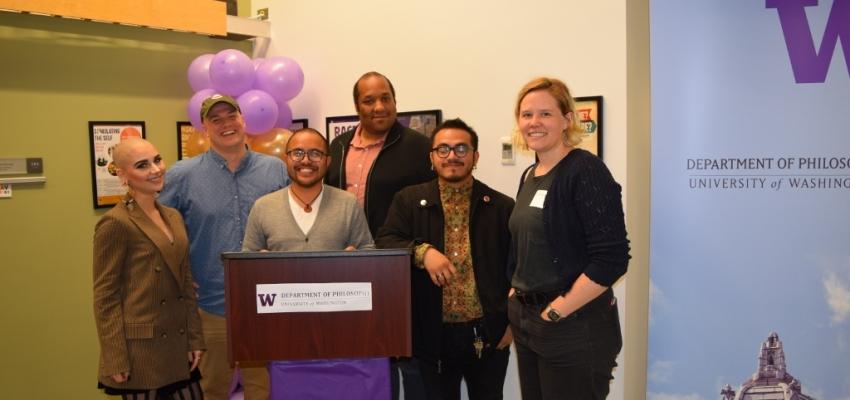 Graduate Student Award Winners: Sofia Huerter, Blake Hereth, Paul Tubig, Tim Brown, Julio Covarrubias, and Sam Sumpter