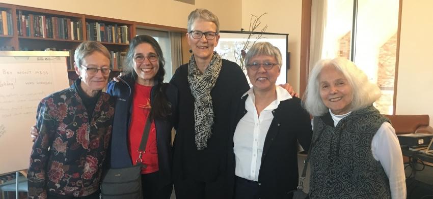 Judy Howard, Angela Ginorio, Bev Wessel, Shirley Yee, and Sydney Kaplan