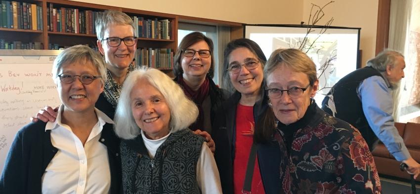 Shirley Yee, Bev Wessel, Sydney Kaplan, Angela Ginorio, Nancy Kenney, and Judy Howard