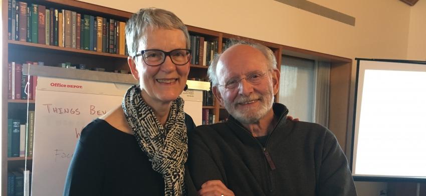 Bev Wessel and Ken Clatterbaugh