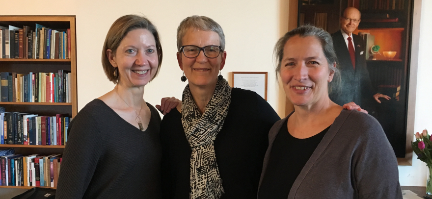 Andrea Woody, Bev Wessel and Sara Goering