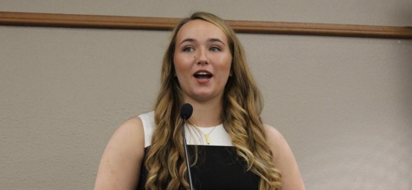 2018 philosophy graduation speaker Gabrielle Endicott