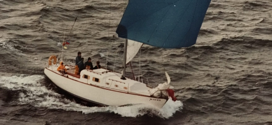 Lonnie and Larry Robinson racing in the Puget Sound.