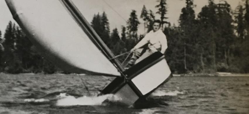 Lonnie Robinson sailing.