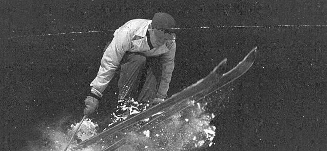 Lonnie Robinson ski jumping.