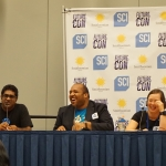 Tim Brown on a panel at Future Con