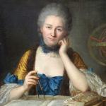 Émilie Du Châtelet, portrait by Maurice Quentin de La Tour