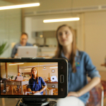 Video Contest, filming students