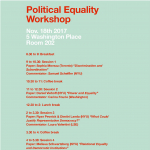 Political Equality Workshop