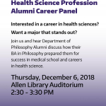 Health Sciences Career Panel Poster