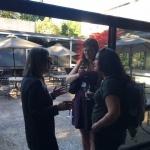 Lynn Hankinson Nelson with students