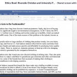 Screen capture of Zoom Ethics Bowl Class