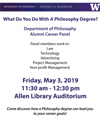 Alumni Panel flyer- all information in the text