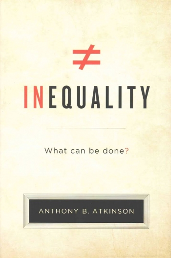 Photo of the cover of Atkinson's book, Inequality: What Can Be Done