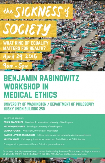 Sickness of Society poster, designed by Sam Sumpter