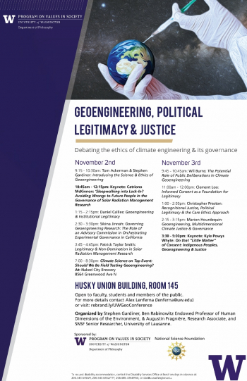 Geoengineering, Political Legitimacy & Justice