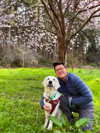 Jack Lucas Chang and his dog Izzie
