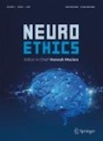 Cover of Neuroethics Journal- image of brain with light up areas