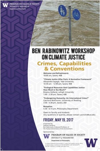 Rabinowitz Workshop on Climate Justice