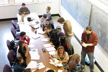 Student study session