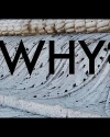 Screen capture of Camille Miller's film showing word WHY? over marble