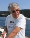 Marc Cohen sailing near Orcas Island