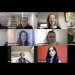 Screenshot of career panelist in Zoom