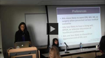 YouTube link to Racial Disparities at the End of Life - Crystal Brown