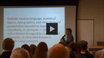 """YouTube link to """"Calling BS in the Real World"""", Carl Bergstrom & Jevin West"""