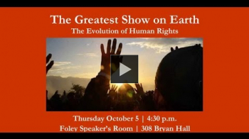 YouTube link to The Greatest Show on Earth: The Evolution of Human Rights